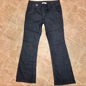 L.E.I vintage Low rise flare glitter jeans Size:9
